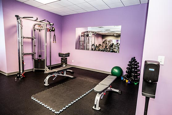 Women's Only workout room